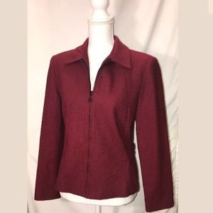 Vintage Women's Pendleton Wine Red Blazer Sz 4